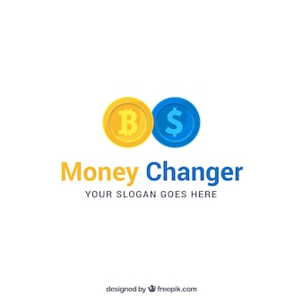 Modelo de logotipo de trocador de dinheiro