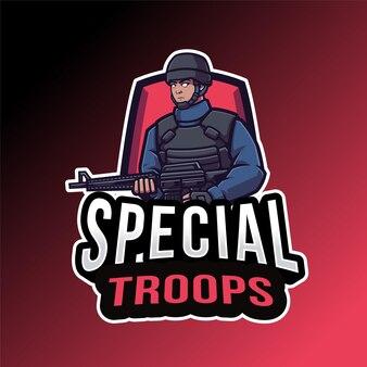 Modelo de logotipo de tropas especiais