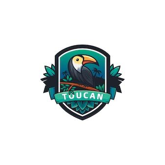 Modelo de logotipo de tucano badgr