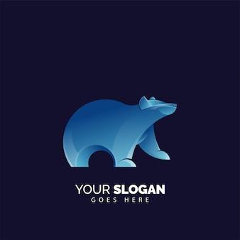 Modelo de logotipo de urso moderno e minimalista