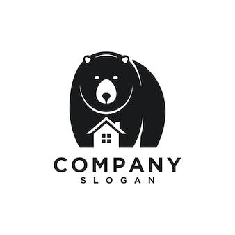 Modelo de logotipo de urso para imóveis