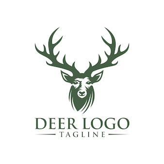 Modelo de logotipo de veado