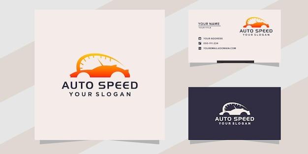 Modelo de logotipo de velocidade automática