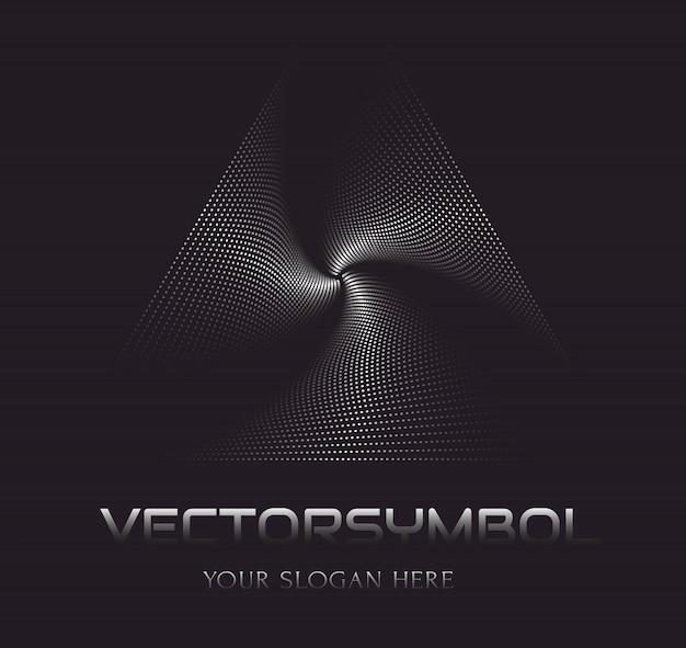 Modelo de logotipo de vetor abstrato. ilusão de óptica.