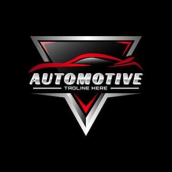 Modelo de logotipo de vetor automotivo de emblema metálico 03
