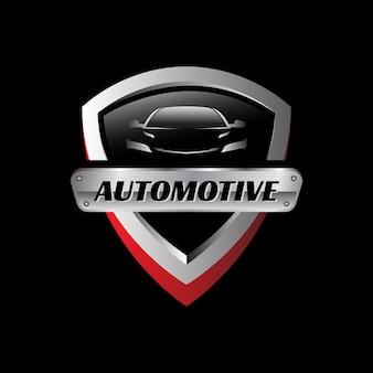 Modelo de logotipo de vetor automotivo de emblema metálico
