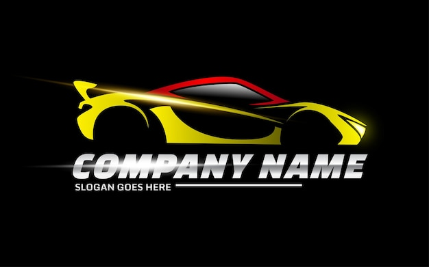 Modelo de logotipo de vetor de carro esporte