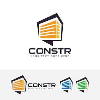 Modelo de logotipo de vetor de consultoria de construção