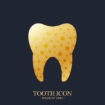 Modelo de logotipo de vetor de dente.
