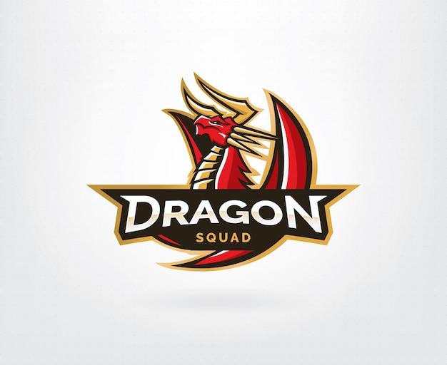 Modelo de logotipo de vetor de dragão