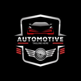 Modelo de logotipo de vetor de emblema de carro esporte automotivo