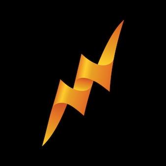 Modelo de logotipo de vetor de ícone de trovão