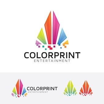 Modelo de logotipo de vetor de impressão a cores