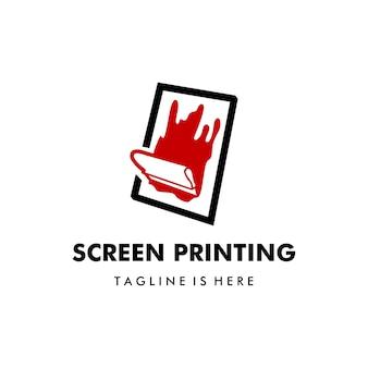 Modelo de logotipo de vetor de impressão de serigrafia