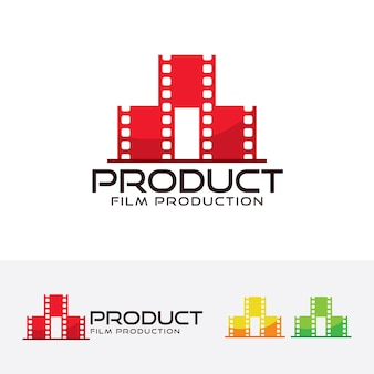 Modelo de logotipo de vetor de produção de filmes