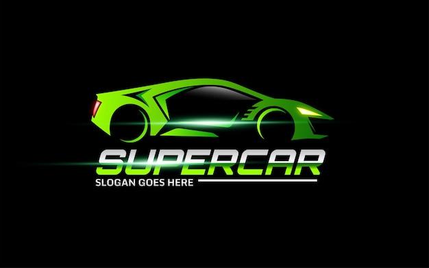 Modelo de logotipo de vetor de super carro