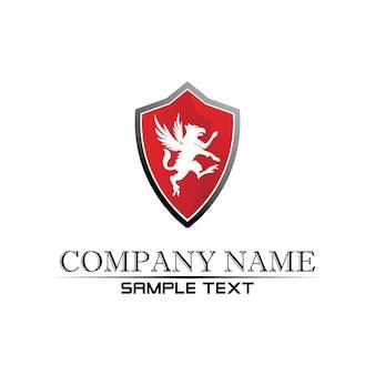 Modelo de logotipo de vetor pegasus