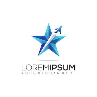 Modelo de logotipo de viagem estrela