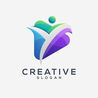 Modelo de logotipo de vida criativa