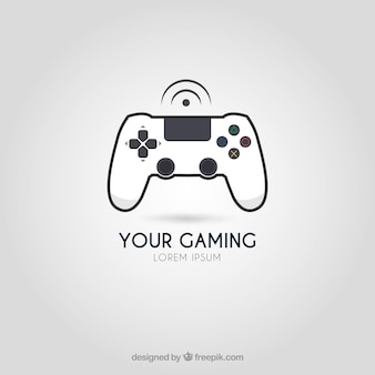 Modelo de logotipo de videogame com estilo moderno