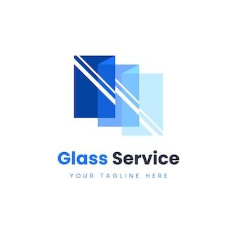 Modelo de logotipo de vidro criativo