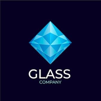 Modelo de logotipo de vidro gradiente