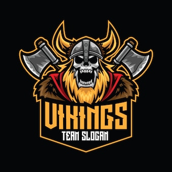 Modelo de logotipo de vikings esport