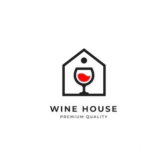 Modelo de logotipo de vinho