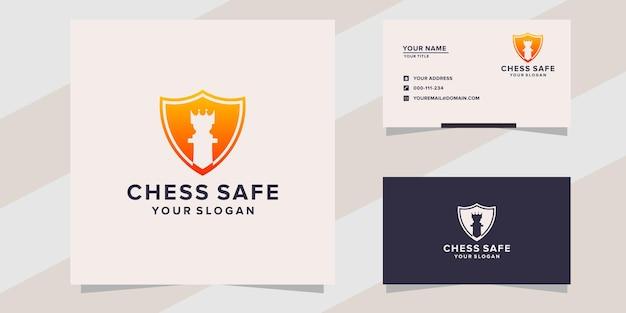Modelo de logotipo de xadrez seguro