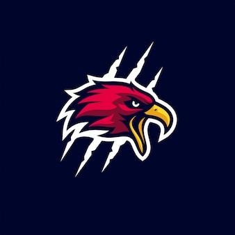 Modelo de logotipo desportivo bold (realce) de águia