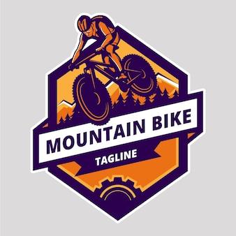 Modelo de logotipo detalhado de bicicleta