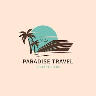 Modelo de logotipo detalhado de viagens