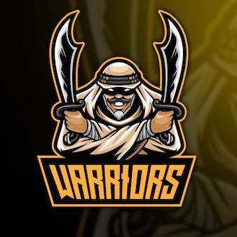 Modelo de logotipo do arabian warrior esport