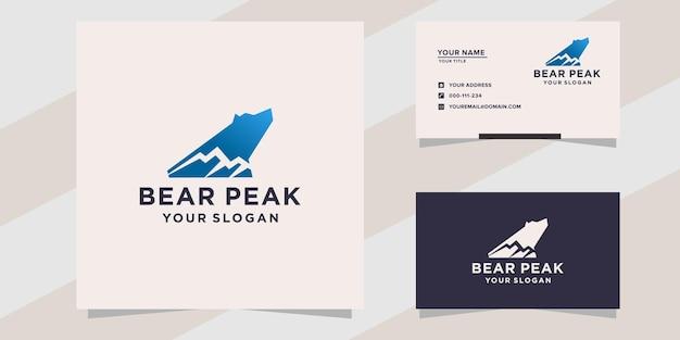 Modelo de logotipo do bear peak