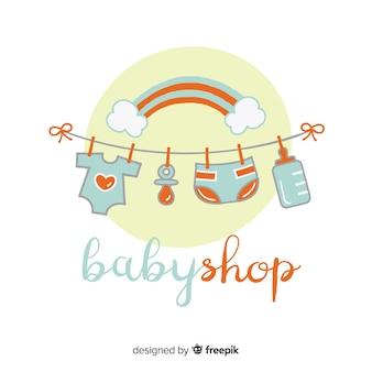 Modelo de logotipo do bebê