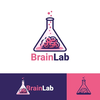 Modelo de logotipo do brain lab