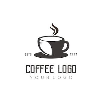 Modelo de logotipo do café