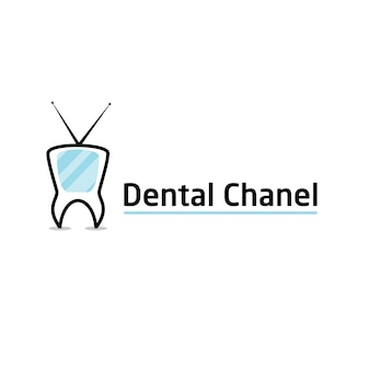 Modelo de logotipo do canal dentário