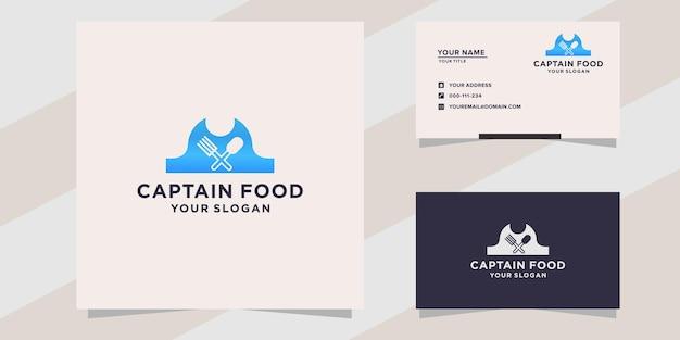 Modelo de logotipo do captain food