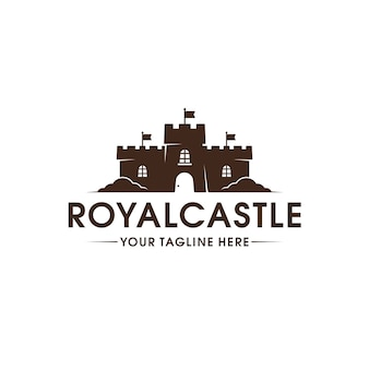 Modelo de logotipo do castelo real