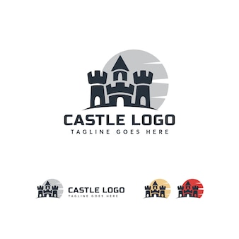Modelo de logotipo do castelo