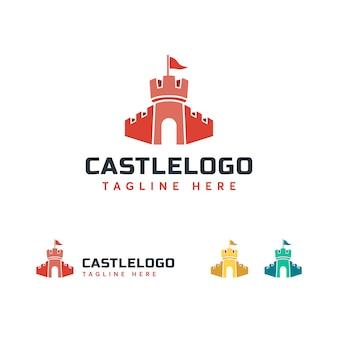Modelo de logotipo do castelo