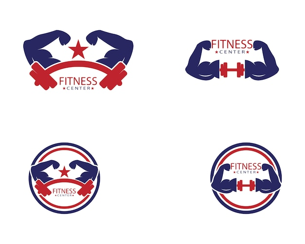 Modelo de logotipo do centro de fitness