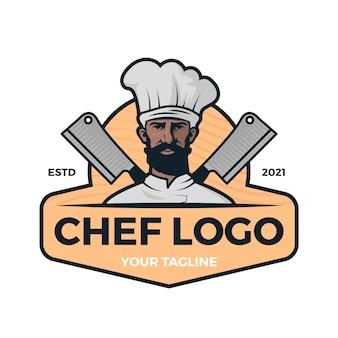 Modelo de logotipo do chef criativo