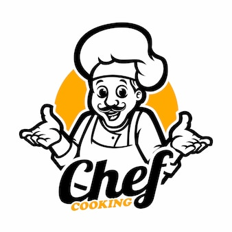 Modelo de logotipo do chef
