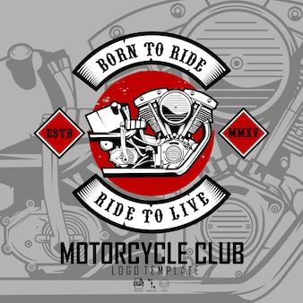 Modelo de logotipo do clube da motocicleta