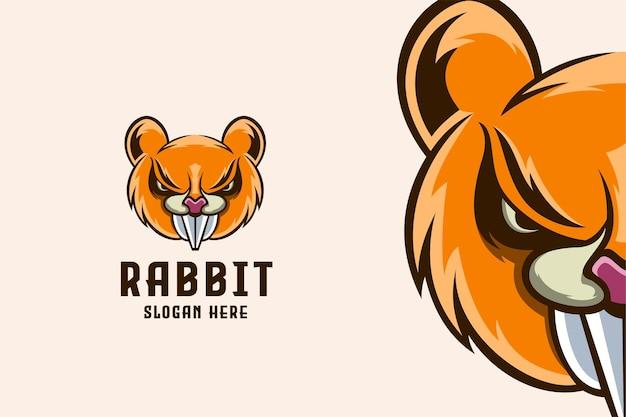 Modelo de logotipo do coelho