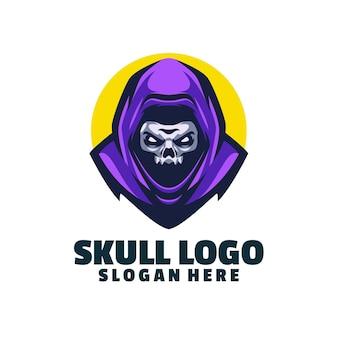Modelo de logotipo do crânio da mascote