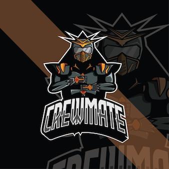 Modelo de logotipo do crewmate esport