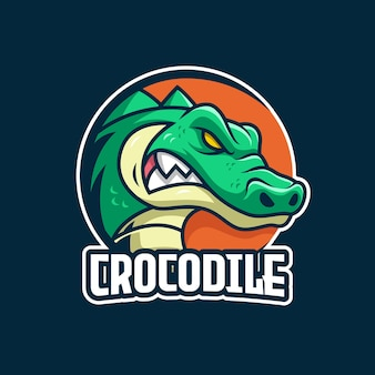 Modelo de logotipo do crocodile e-sports